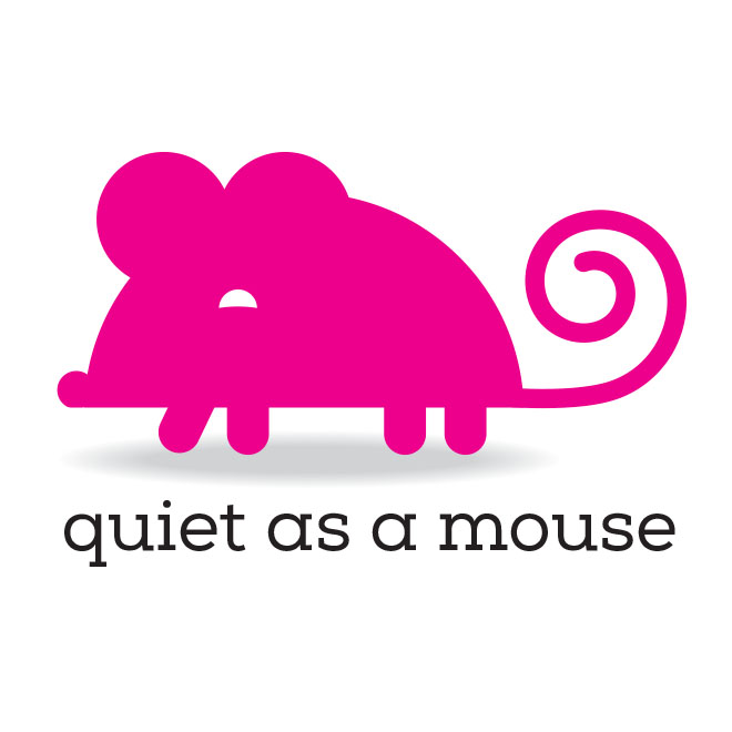 Quiet As A Mouse Logo