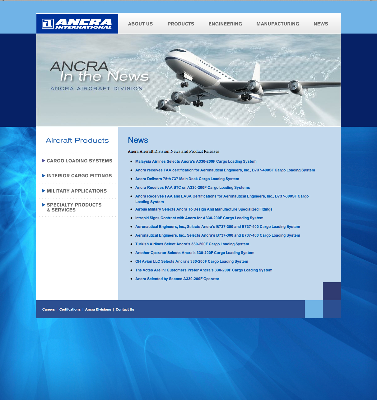 Ancra International — Aircraft Products